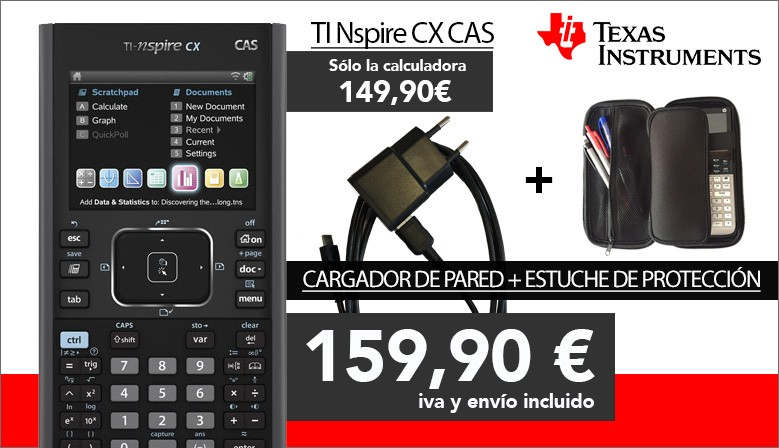 Oferta Pack TI Nspire CX CAS