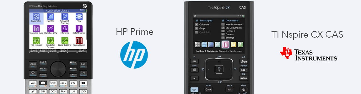 HP Prime y TI Nspire CX CAS
